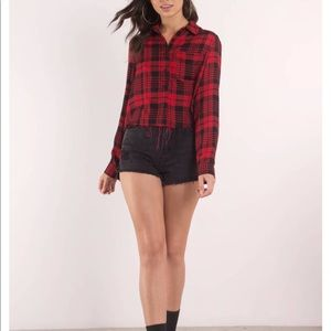 NEW WITH TAGS! Tobi Red and black button down